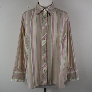 Cato Size 18/20W Long Sleeve Button Up Shirt